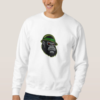 軍のゴリラの頭部 スウェットシャツ