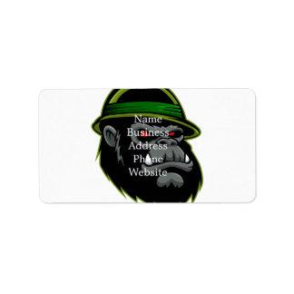 軍のゴリラの頭部 ラベル
