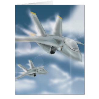 軍のジェット機 カード