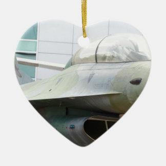 軍のジェット機 セラミックオーナメント