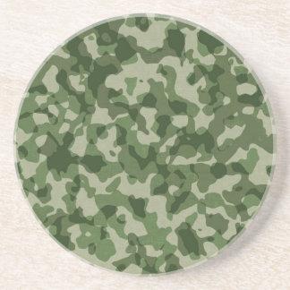 軍のジャングルの緑のカムフラージュ コースター