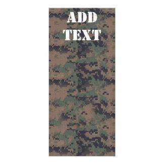 軍のデジタル森林背景 ラックカード