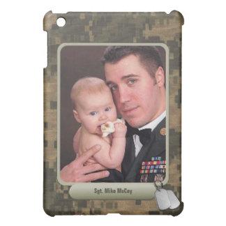 軍のドッグタッグの名前入りな写真フレーム iPad MINIカバー