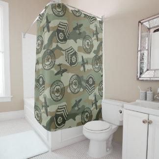 軍のバッジ シャワーカーテン