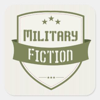軍のフィクションのジャンルの表紙の正方形のステッカー スクエアシール