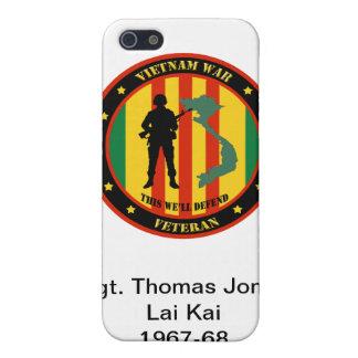 軍のベトナム戦争の退役軍人のIPhone 4のカスタムの場合 iPhone 5 Cover