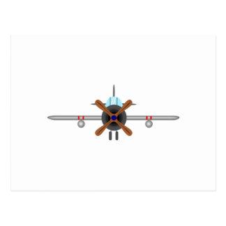 軍の戦闘機の飛行機 ポストカード