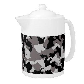 軍の灰色のカムフラージュパターン