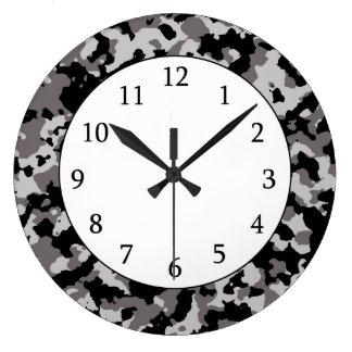 軍の灰色のカムフラージュパターン 時計