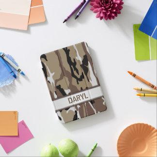 軍の砂漠の迷彩柄の名前のテンプレート iPad MINIカバー