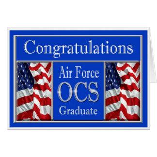 軍の空軍OCS卒業カード カード