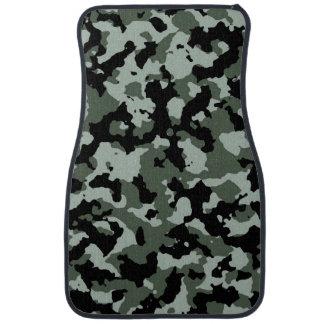 軍の緑のカムフラージュパターン カーマット