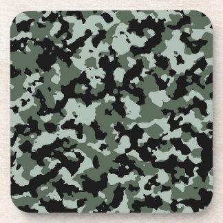 軍の緑のカムフラージュパターン コースター