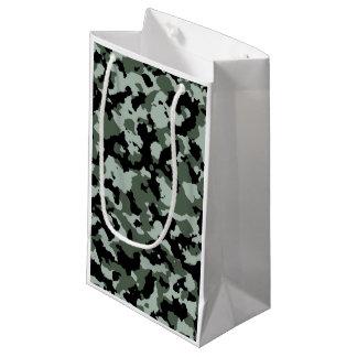 軍の緑のカムフラージュパターン スモールペーパーバッグ