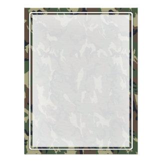 軍の緑のカムフラージュパターン チラシ