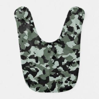 軍の緑のカムフラージュパターン ベビービブ
