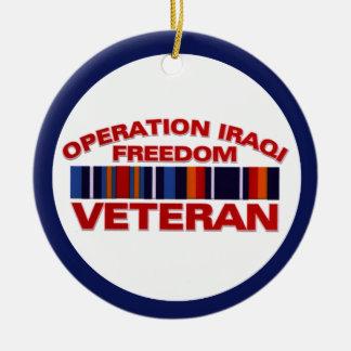 軍の退役軍人操作のイラクの自由のカスタム セラミックオーナメント