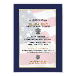 軍の退職のパーティの招待状 カード