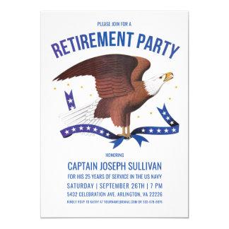 軍の退職の招待状|のワシ カード