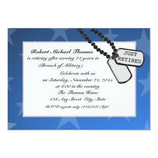 軍の退職パーティーの青 カード