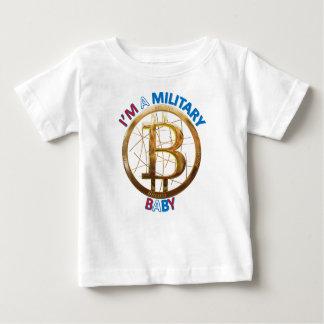 軍のBitcoinのベビーの服装 ベビーTシャツ
