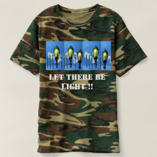 軍をごまかせば屋外そこにありますライトが割り当てて下さい Tシャツ