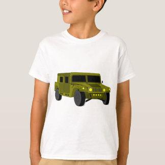 軍用トラックの漫画のスケッチ Tシャツ