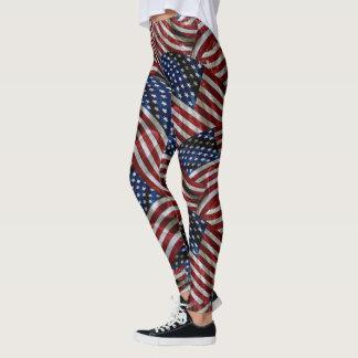 軍米国の星及びストライプな旗のレギンス レギンス