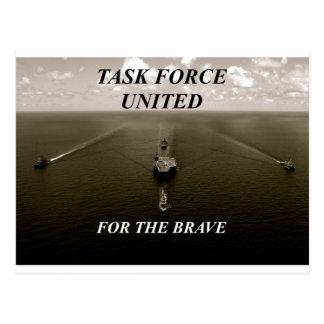 軍艦の航海の素晴らしい白黒イメージ ポストカード