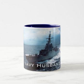 軍艦 ツートーンマグカップ
