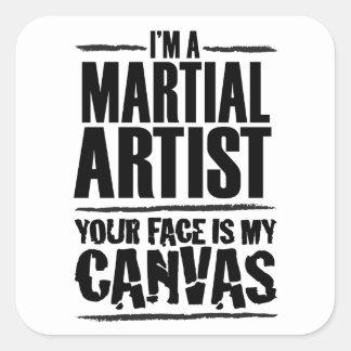 軍芸術家-あなたの顔は私のキャンバスです スクエアシール