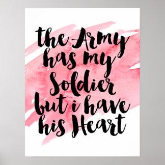 軍隊に私の兵士がありますが、私に彼のハートがあります ポスター
