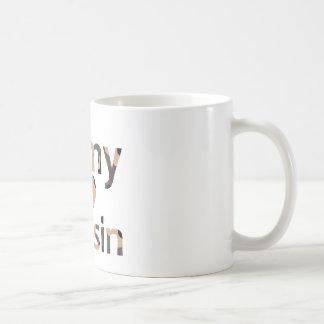 軍隊のいとこのハートの迷彩柄 コーヒーマグカップ