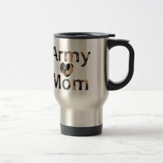 軍隊のお母さんの迷彩柄のハート トラベルマグ