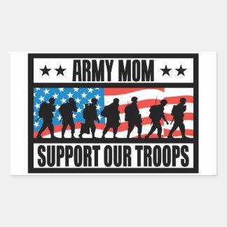 軍隊のお母さん 長方形シール