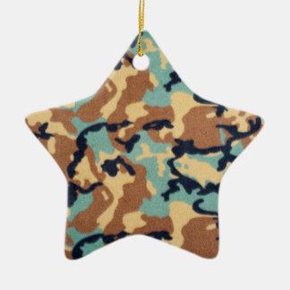 軍隊のカムフラージュパターン 陶器製星型オーナメント