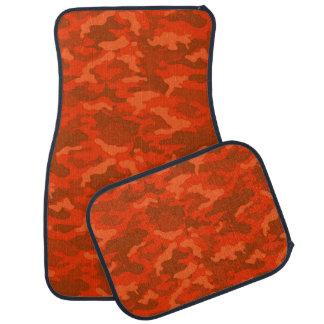 軍隊のカムフラージュ(オレンジ秋色)のカーマット カーマット