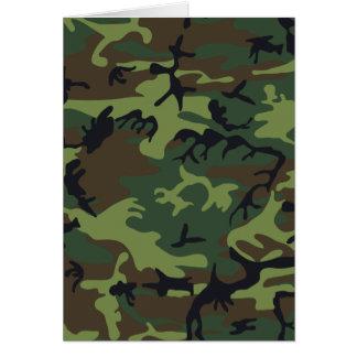 軍隊のカムフラージュ カード