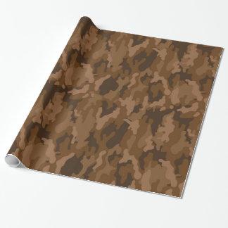 軍隊のカムフラージュ(ブラウン色)の包装紙 ラッピングペーパー