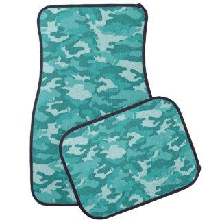 軍隊のカムフラージュ(水色)のカーマット カーマット