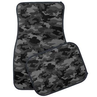 軍隊のカムフラージュ(黒い色)のカーマット カーマット