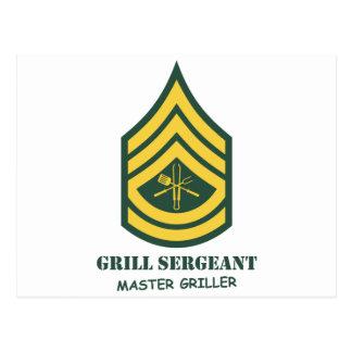 軍隊のグリルの下士官 ポストカード