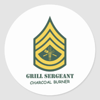 軍隊のグリルの下士官 ラウンドシール
