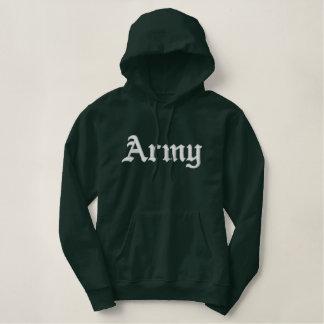 軍隊のフード付きスウェットシャツ 刺繍入りパーカ