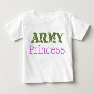 軍隊のプリンセスのベビー ベビーTシャツ