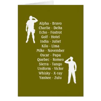 軍隊の兵士の通話表の新人の軍隊の仕事 カード