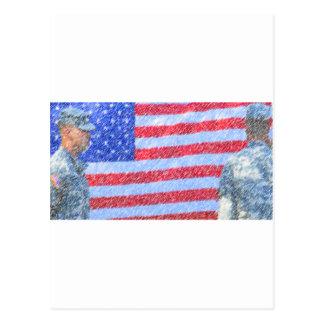 軍隊の兵士 ポストカード