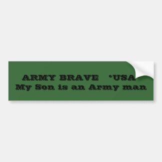 軍隊の勇敢な   *USA*は     私の息子軍隊の人です バンパーステッカー
