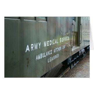 軍隊の医学の炊事段列車の空白のなカード カード