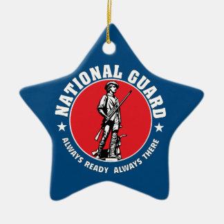 軍隊の国家警備隊の歴史的なロゴ セラミックオーナメント